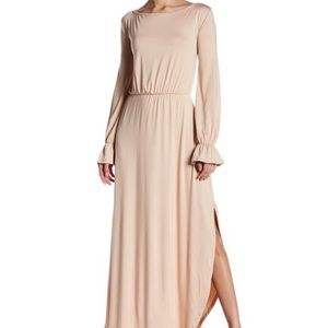 Go Couture Long Sleeve Open Maxi Dress Bell NWT S